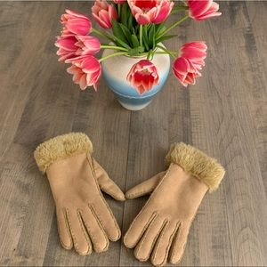 🚨Cejon Faux Fur Lined Suede Gloves